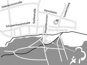 Karte mit Lage der Hütte des Waldkindergartens Rohr